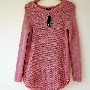 Apt. 9 Metallic Pink  Crew Neck Sweater NWT